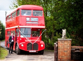 72 seat Red Routemaster bus for wedding hire in Maidstone